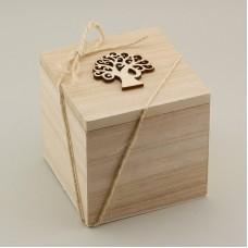"""Bomboniera """"Miele in scatola legno"""""""
