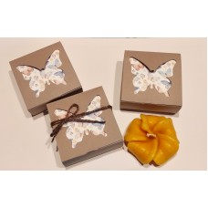 Candela fiore in scatola Butterfly